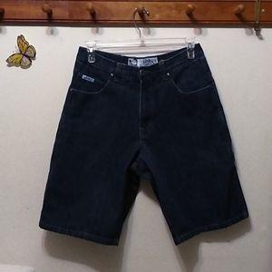 Southpole size 34 knee length blue jean shorts men